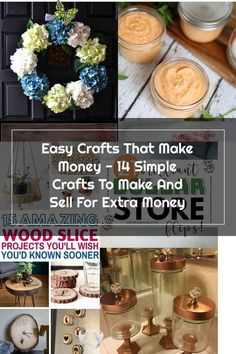 14+ Easy DIY Crafts To Sell That Are Cheap To Make & Creative. These awesome project ideas can be sold on Etsy and at craft fairs and craft markets. Try these unique crafts that make money today and make extra money from home!<br> Diy Home Crafts, Easy Diy Crafts, Creative Crafts, Crafts To Make And Sell, Sell Diy, Make Money Today, How To Make Money, Easter Countdown, Diy Wax