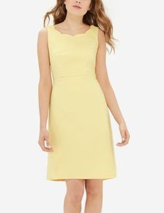 Scallop Neck Dress - The Limited $42.99