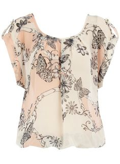 Blush Floral/Butterfly Top -- Dorothy Perkins Price: £26.00