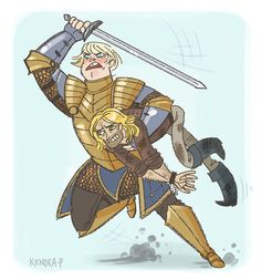 "Brienne of Tarth and Jaime ""Fancy Man"" Lannister  AKA FAVORITES FOREVER."