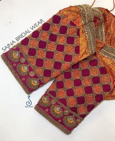 To get your outfit customized visit us at Chennai, Vadapalani or call/msg us at for appointments, online order and further details . Cutwork Blouse Designs, Wedding Saree Blouse Designs, Pattu Saree Blouse Designs, Stylish Blouse Design, Fancy Blouse Designs, Designer Blouse Patterns, Marie, Bridal Robes, Bridal Sari