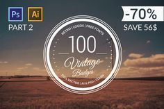 100 Retro Badges All Volumes by PiotrLapa on Creative Market