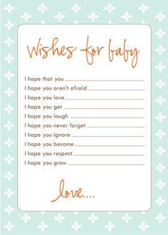 wish cards blue single