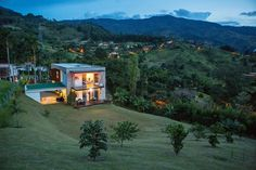 This contemporary four-bedroom five-bathroom home sits on just over a half-acre in the Medellin suburb of Envigado, which is part of the Aburrá Valley. It is on the market for $889,800 (2.6 billion Colombian pesos).