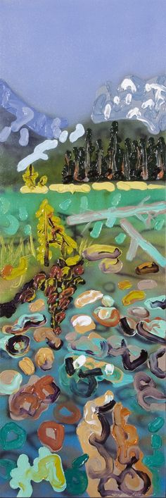 Sheila Kernan, 'Lake Side Memories' at Mayberry Fine Art Lake Side, Canadian Art, Mark Making, Wilderness, Painting & Drawing, Memories, Fine Art, Colour, Landscape
