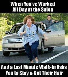 Haha hairstylist humor