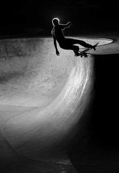 Skateboard Photo black and white