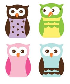more owl shapes for the classroom door.