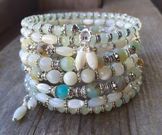 Spring Fever Multi Strand Memory Wire Bracelet by McHughCreations