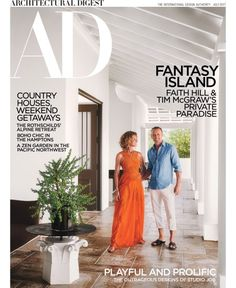 On their own private island in the Bahamas, Faith Hill and Tim McGraw create the perfect escape designed by McAlpine Architectural Digest, Decor Interior Design, Interior Design Living Room, Room Interior, Bahamas House, Tim And Faith, Tim Mcgraw Faith Hill, Bahamas Island, Weekend House