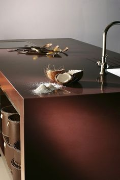 Bancada de cozinha #SilestoneGedatsu #CozinhaSilestone #SilestoneMarrom