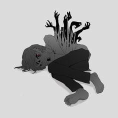 on - Ivonne - Zeichnungen Dark Art Illustrations, Dark Art Drawings, Cool Drawings, Illustration Art, Aesthetic Art, Aesthetic Anime, Illustrator, Vent Art, Arte Obscura