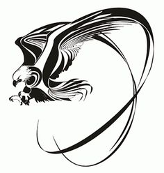 Eagle Tattoo Designs by tattoo design and tattoo ideas Tribal Eagle Tattoo, Eagle Feather Tattoos, Eagle Head Tattoo, Eagle Tattoos, Tribal Tattoo Designs, Star Tattoos, Celtic Tattoos, Tribal Art, Skull Tattoos