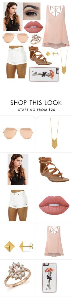 """""""•sunday sorta outfit•"""" by rhiannonpsayer ❤ liked on Polyvore featuring Linda Farrow, Sam Edelman, REGALROSE, Blowfish, Zulu & Zephyr, Lime Crime, Allurez, Glamorous, Bloomingdale's and Zero Gravity"""