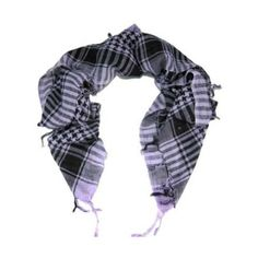 Men's Scarves -  Pin it :-) Follow us .. CLICK IMAGE TWICE for our BEST PRICING ... SEE A LARGER SELECTION of Men's Scarves at  http://azgiftideas.com/product-category/mens-scarves/ - men, gift ideas, mens wear -  White & Black Shemagh Lightweight Arab Tactical Desert Keffiyeh Scarf
