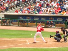 Chris Coste at Brighthouse Networks Stadium, Clearwater, Florida. Spring Training home of the Philadelphia Phillies... 2009