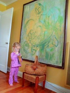 New project to start with Jolene :) house-proud .something similiar on NATE . blown up childs drawing looks like modern art Bad Painting, Painting For Kids, Art For Kids, Large Canvas, Canvas Frame, Canvas Art, Blank Canvas, Canvas Paintings, Homemade Art