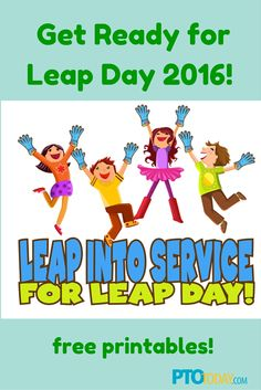 FREEBIE Celebrate leap year with this leap year bookmarker with a ...