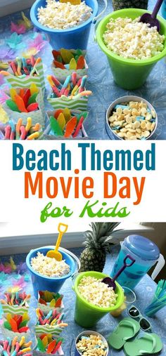 Indoor Beach Themed Movie Day for Kids - Mom. Wife. Busy Life.