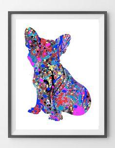 Printable French Bulldog Dog frenchie dog Instant by WombatClub