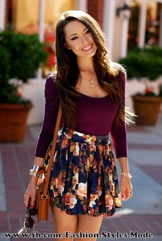 Nice fall outfit when you pair it with some tights and in the winter with a sweater or cardigan