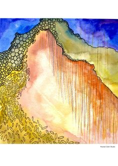 Fine Art Print Abstract Watercolor and Ink  by MusicalColorStudio, $24.00