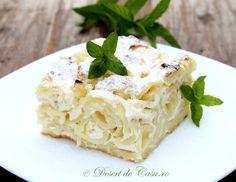 budinca cu branza dulce Pasta Recipes, Dessert Recipes, Cooking Recipes, Desserts, Romanian Food, Romanian Recipes, Thing 1, Just Amazing, Gnocchi