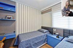 Quarto infantil projetado para duas crianças, com camas de solteiro e bancada para estudos. #arquitetura #arqdesign #formabella #formabellafloripa #quarto #quartoinfantil #arquitetura #interiores @tatijunkes