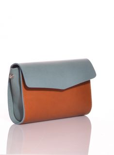 Young+British+Designers:+Cross-Body+Howe+Clutch+Bag+in+Avion/Tan+by+M.Hulot