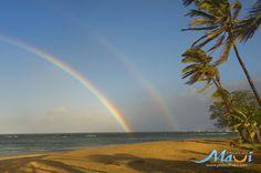 Maui #doublerainbow! #rainbow #aloha #paradise #hawaii #maui #beach