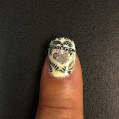 """""""Sloth nail art = happiness #MoyouLondon #enchanted #nailart #sloth #sopretty #goodtimes"""""""
