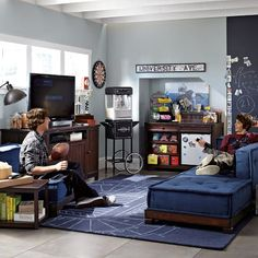 Create a comfy hangout space with Pottery Barn Teen's lounge seating and teen lounge chairs. Shop teen room chairs in many styles, and colors. Teen Lounge Rooms, Teen Hangout Room, Teen Game Rooms, Boys Game Room, Lounge Cushions, Lounge Seating, Floor Seating, Lounge Chairs, Teen Furniture