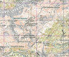 MapCarte Topographic Map Triglav, Slovenia by Surveying and Mapping Authority of the Republic of Slovenia, 2004 Topographic Map, Map Design, The Republic, Cartography, Slovenia, City Photo, Vintage World Maps, Author, Detail