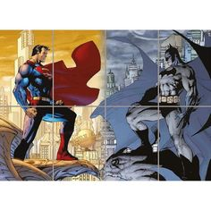 Unique wall decorations designed to brighten any space. Giant Wall Art, Mural Wall Art, Giant Posters, Batman Vs Superman, Unique Wall Decor, Wall Decorations, Knight, Poster Prints, Superhero