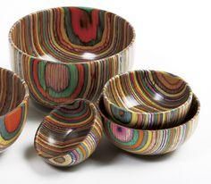 Norpro: Rainbow Wood Bowls