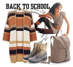 Back to school by jojona-1 on Polyvore featuring polyvore fashion style Warehouse Frye clothing