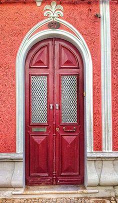 Vila Real de Santo António, Algarve, Portugal Cool Doors, Unique Doors, Entrance Doors, Doorway, Door Knockers, Door Knobs, Portal, Porches, Door Gate