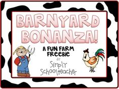 A free 25-page farm unit that includes:- 3 farm primary writing pages- a farm mini-booklet with writing pages for cows, pigs, sheep, horses, roosters, chicks, and goats- farm-themed skip counting activity and recording sheet- syllable counting cut/paste activity sheet- barnyard coloring pageDJ Inkers fonts and clipart used throughout!