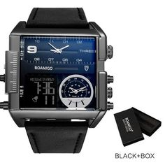 Dexter Square Military Big Face Infantry Digital Watch for Men – Technigadgets Cool Watches, Watches For Men, Men's Watches, Fancy Watches, Black Watches, Leather Watches, Popular Watches, Expensive Watches, Elegant Watches