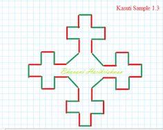 Kasuti Embroidery Tutorial: Free Online Kasuti Embroidery Tutorial Sample 1.3 - Closed Design