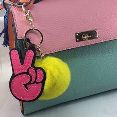 fashion Yes plush keychains bags charms
