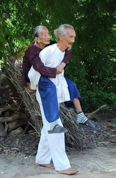 Powerful Image of People Photography Old Couples