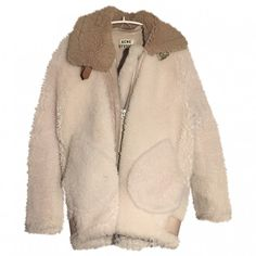 Leather jacket ACNE STUDIOS (€765) ❤ liked on Polyvore featuring outerwear, jackets, coats, coats & jackets, beige leather jacket, beige jacket, acne studios jacket, real leather jackets and acne studios