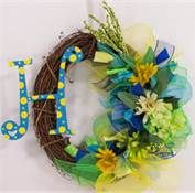 spring mesh wreath with initial - Bing Images