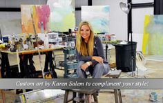 Self taught contemporary Artist, Karen Salem, attempts to create art that illuminates living spaces and compliments her interior furnishing at Town & Country Leather. Karen believes the presence of an original work of art in the home has the power to transform lives by engaging and enriching the spirit. She studied Interior Design at The Art Institute of Fort Lauderdale and went on to open a successful chain of furniture stores with her husband and two children in Central Texas.
