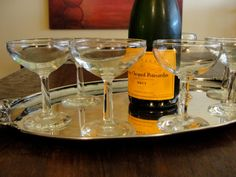 Great Gatsby Champagne Coupe Glasses  Cocktail Glasses Set of 7 on Etsy, $28.00