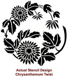 Stencil Chrysanthemum Twist MED Reusable por CuttingEdgeStencils