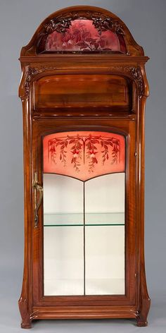 Jacques Gruber, A French Art Nouveau carved mahogany Cabinet.// i would definitely find a place for this. Belle Epoque, Vintage Furniture, Cool Furniture, Unusual Furniture, Furniture Storage, Mahogany Cabinets, Muebles Art Deco, Art Nouveau Furniture, Art Nouveau Design