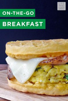 Mornings can be hectic, but that doesn't mean you have to sacrifice a nutritious and delicious breakfast. This on-the- go breakfast sandwich is the perfect quick recipe!