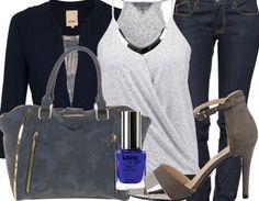 Une tenue plutot classique avec un joli blazer bleu marine. A retrouver ici http://stylefru.it/s830465 #outfit #tenue #talons